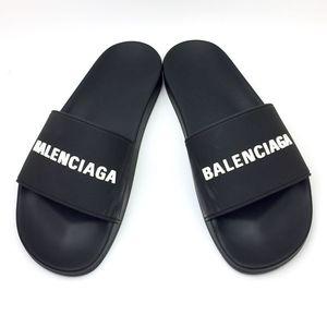BALENCIAGA  Logo Slide Sandal sz 9